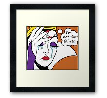 Villain World Problems - Not Fair Framed Print
