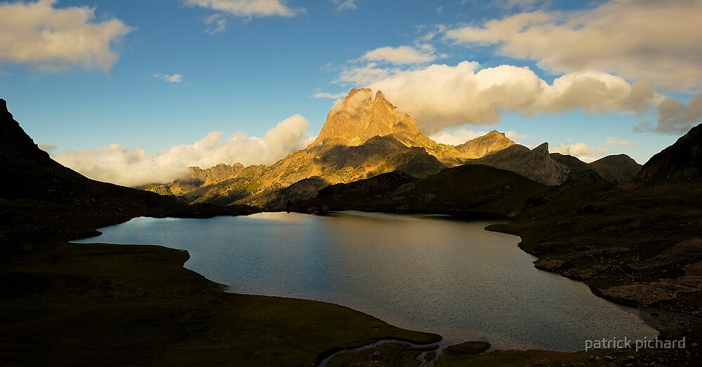 sunset on pic du midi d'ossau by patrick pichard