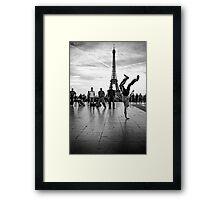 breaking paris Framed Print