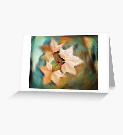 Autumn spin Greeting Card
