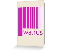 Walrus Fucsia Doppler Greeting Card