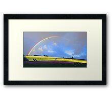 Rainbow Over The Fields  Framed Print