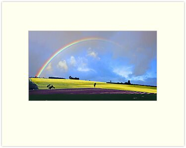 Rainbow Over The Fields  by EOS20