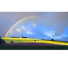 Rainbow Over The Fields  Photographic Print