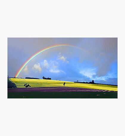 Rainbow Over The Fields  Photographic Print