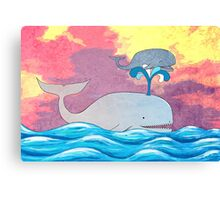 How Whales Have Fun Canvas Print