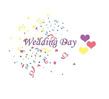 Wedding Day Confetti Card by CreativeEm
