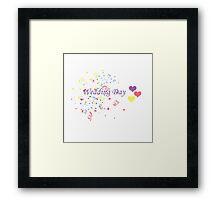 Wedding Day Confetti Card Framed Print
