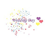 Wedding Day Confetti Card Photographic Print