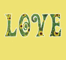 Sunflower Hippy Love Kids Tee