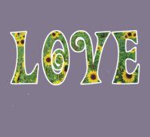 Sunflower Hippy Love Kids Tee