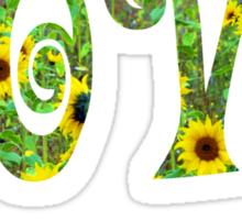Sunflower Hippy Love Sticker