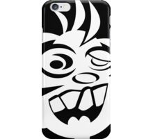 Awesome Crazy Dog Face (White) iPhone Case/Skin