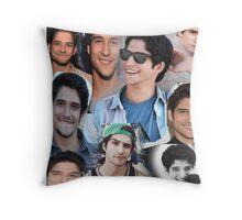 Tyler Posey collage Throw Pillow