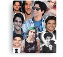 Tyler Posey collage Canvas Print