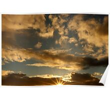 Sunset with Star Effect Poster