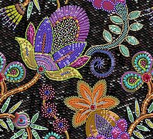 Sequins seamless pattern. by Laces