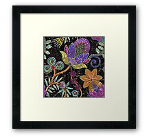 Sequins seamless pattern. Framed Print