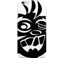 Awesome Crazy Dog Face (Black) iPhone Case/Skin