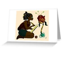 Steampunk Explorer Girl Greeting Card