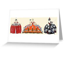 ROCOCO LADIES ART DECO FASHION COSTUME DESIGN Greeting Card