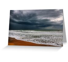 storm over the sea Greeting Card