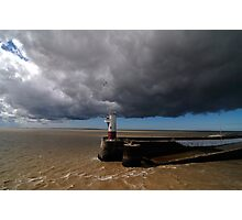 storm over  a lighthouse Photographic Print