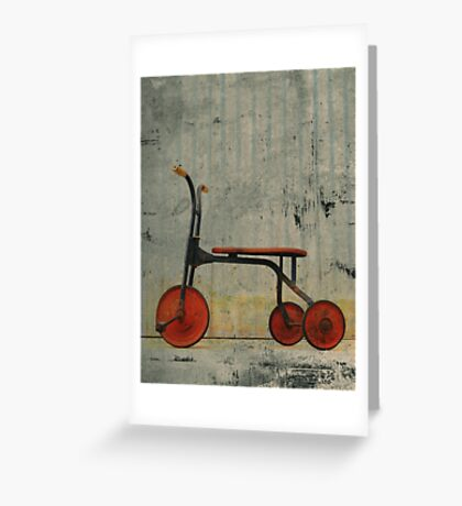Little Red Trike Greeting Card