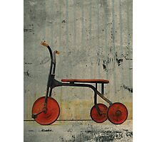 Little Red Trike Photographic Print