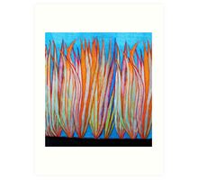 Colorful Grass Art Print