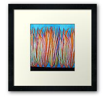 Colorful Grass Framed Print