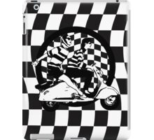 Retro scooter couple on checks iPad Case/Skin