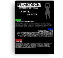 Filmstock Music Festival (white text) Canvas Print
