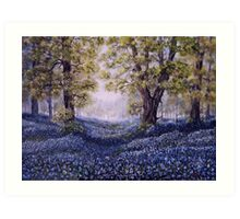 """""""Mary's Bluebells"""" - oil painting Art Print"""