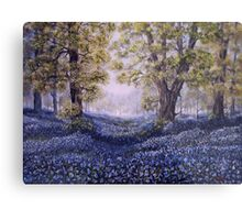 """Mary's Bluebells"" - oil painting Metal Print"
