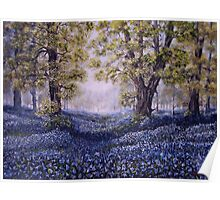 """Mary's Bluebells"" - oil painting Poster"