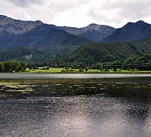 Lake and Mountains by Daidalos