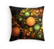 Still Life - Alien Fruit Bowl Throw Pillow