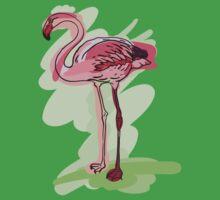 flamingo One Piece - Short Sleeve
