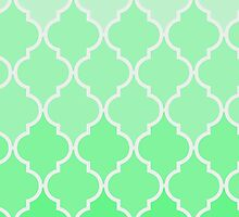 Trendy chic turquoise classic Quatrefoil Pattern by Maria Fernandes