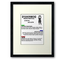 Filmstock Music Festival (black text) Framed Print