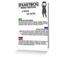 Filmstock Music Festival (black text) Greeting Card