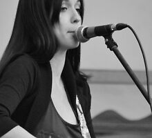 Stone Music Festival, Gemma Moss, B/W. by Phil Mitchell