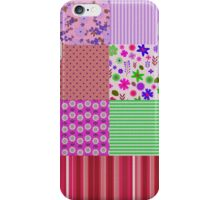 Vintage colorful miscellany patchwork pattern iPhone Case/Skin