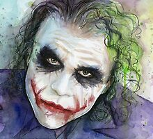 The Joker Watercolor by OlechkaDesign