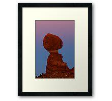 Balanced Rock at Sunset Framed Print