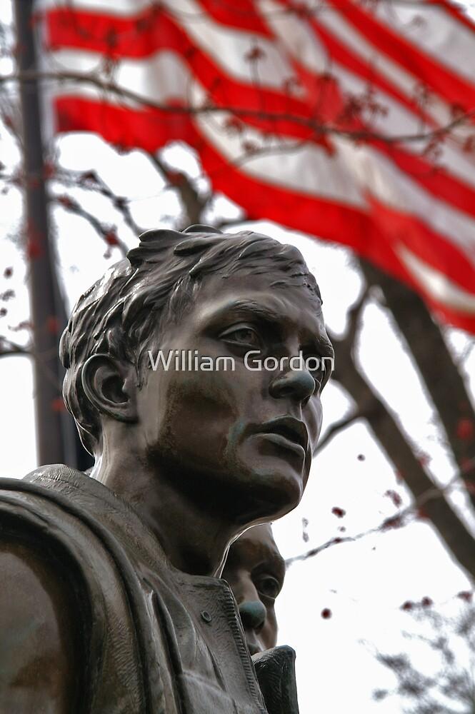 Vietnam Memorial Soldiers - Washington, DC by William Gordon