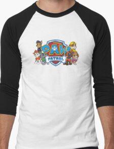 Send in the Pups! Men's Baseball ¾ T-Shirt