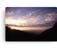 Smoky Mountain Daybreak Canvas Print