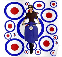 Retro Scooter Girl Poster